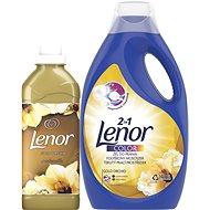LENOR Gold Orchid prací prostriedok 2,2 l (40 praní) + aviváž 750 ml (25 praní) - Sada drogérie