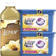 LENOR Gold Orchid kapsuly 26 ks + aviváž 750 ml (25 praní) - Sada drogérie
