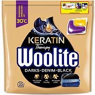 WOOLITE Black Darks Denim s keratínom, 22 ks - Kapsuly na pranie