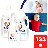 LOVELA Gigapack Biele 9,4 l (133 praní) + aviváž - Tekutý prací prostriedok