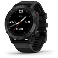 Garmin Fenix 6 Glass, Black/Black Band (MAP/Music) - Smart hodinky