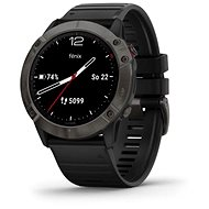 Smart hodinky Garmin Fenix 6X Sapphire, GrayDLC/Black Band (MAP/Music)