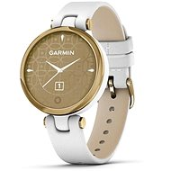 Garmin Lily Classic Light Gold/White Leather Band - Smart hodinky