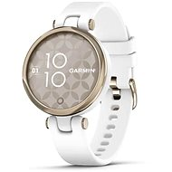 Garmin Lily Sport Cream Gold/White Silicone Band