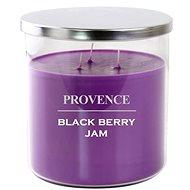 Provence sviečka v skle s viečkom 1 000 g, blackberry, 3 knôty - Sviečka