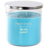 Provence sviečka v skle s viečkom 1 000 g, blue light, 3 knôty - Sviečka