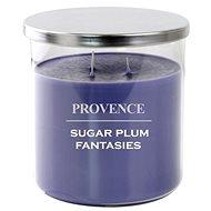 Provence sviečka v skle s viečkom 1 000 g, sugarplum, 3 knôty - Sviečka