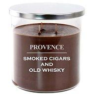 Provence sviečka v skle s viečkom 1 000 g, cigars/whiskey, 3 knôty - Sviečka