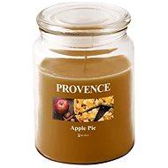 Provence Sviečka v skle s vekom 510 g, Jablčný závin - Sviečka