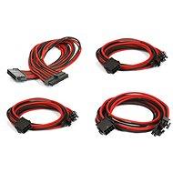 Phanteks Extension Cable Set – Černe/Červené - Napájací kábel