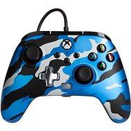 Gamepad PowerA Enhanced Wired Controller – Metallic Blue Camo – Xbox