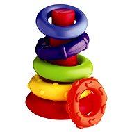 Playgro Plastové navliekacie krúžky - Didaktická hračka