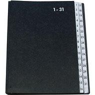 Q-CONNECT A4, černá, 1-31 - Triediaca kniha