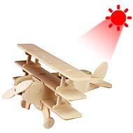 Drevené 3D puzzle – Solárne lietadlo Trojplošník - Puzzle