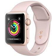 Repasované Apple Watch Series 4 40 mm Zlatý hliník s pieskovo ružovým prevliekacím športovým remienkom - Smart hodinky