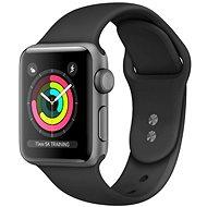 Repasované Apple Watch Series 4 44 mm Vesmírne čierny hliník s čiernym športovým remienkom - Smart hodinky