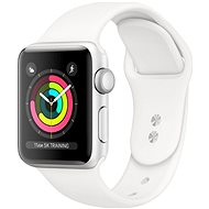 Repasované Apple Watch Series 5 40 mm Strieborný hliník s bielym športovým remienkom - Smart hodinky