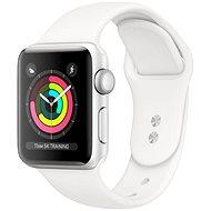 Repasované Apple Watch Series 5 44mm Strieborný hliník s bielym športovým remienkom - Smart hodinky