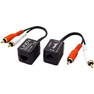 OEM Audio extender cez TP, 2× cinch, 100 m - Extender