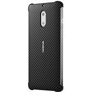 Puzdro Nokia Carbon Fiber Design CC-802 pre Nokia 6 Onyx Black - Ochranný kryt