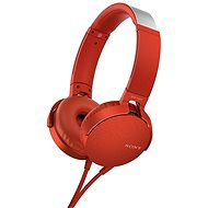 Sony MDR-XB550AP červená - Slúchadlá s mikrofónom