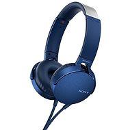 Sony MDR-XB550AP modrá - Slúchadlá s mikrofónom