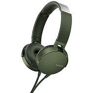 Sony MDR-XB550AP zelená - Slúchadlá s mikrofónom
