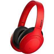Bezdrôtové slúchadlá Sony Hi-Res WH-H910N, červeno-čierne