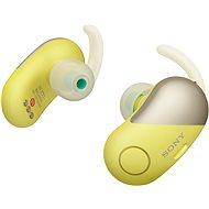 Sony WF-SP700N žlté - Slúchadlá s mikrofónom