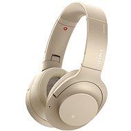 Sony Hi-Res WH-H900N zlaté - Slúchadlá s mikrofónom