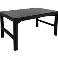 ALLIBERT Stôl LYON RATTAN grafit - Záhradný stôl