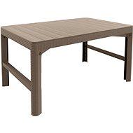 ALLIBERT Stôl LYON RATTAN cappucino - Záhradný stôl