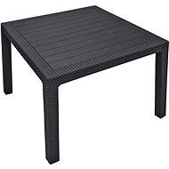 ALLIBERT Stôl MELODY QUARTED grafit - Záhradný stôl