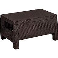 ALLIBERT Stôl CORFU hnedý - Záhradný stôl