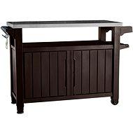 9e0248eed76fe KETER UNITY XL 207 L hnedá multifunkčný úložný stôl - Záhradný stôl
