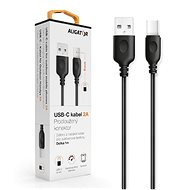 ALIGATOR dátový kábel USB-C – USB 2.0, čierny
