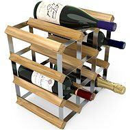 RTA stojan na 12 fliaš vína, svetlý dub – pozinkovaná oceľ/rozložený
