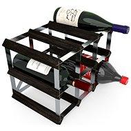 RTA stojan na 9 fliaš vína, čierny jaseň – pozinkovaná oceľ/rozložený