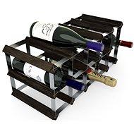 RTA stojan na 15 fliaš vína, čierny jaseň – pozinkovaná oceľ/rozložený
