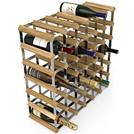 RTA stojan na 42 fliaš vína, svetlý dub – pozinkovaná oceľ/rozložený