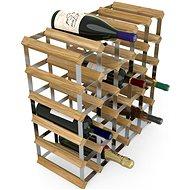 RTA stojan na 30 fliaš vína, svetlý dub – pozinkovaná oceľ/rozložený
