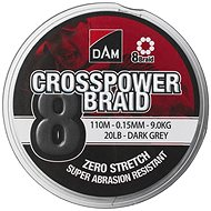 DAM Crosspower 8-Braid 150 m Dark Grey - Šnúra