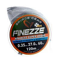 Savage Gear Finezze HD4 Braid 120m 0.35mm 60lbs 27kg Grey - Šnúra