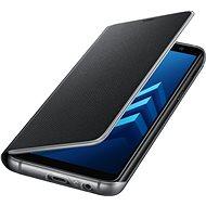 Samsung Neon Flip Cover Galaxy A8 (2018) EF-FA530P Black - Puzdro na mobil
