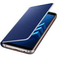 Samsung Neon Flip Cover Galaxy A8 (2018) EF-FA530P Blue - Puzdro na mobil