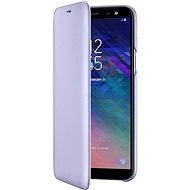 Samsung Galaxy A6 Wallet Cover levanduľové - Puzdro na mobil