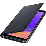 Samsung Galaxy A7 2018 Flip Wallet Cover Black - Puzdro na mobil