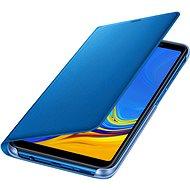 Samsung Galaxy A7 2018 Flip Wallet Cover Blue - Puzdro na mobil