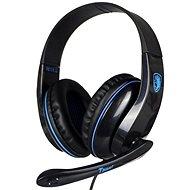 Sades T-Power čierna/modrá - Herné slúchadlá
