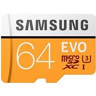 Samsung MicroSDXC 64 GB EVO UHS-I U3 + SD adaptér - Pamäťová karta